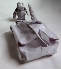 ORIGAMI - TANK MAN!! (Neelesh K) Tags: origami tank man chinese protest box pleating paperfolding neelesh k