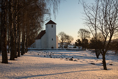 Norwegian church (steffos1986) Tags: church light sun yellow snow ice frozen winter tree norway norwegen noruega norge countryside graveyard nature landscape nikond800 nikon2880af fullframe explore