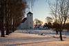 Norwegian church (steffos1986) Tags: church light sun yellow snow ice frozen winter tree norway norwegen noruega norge countryside graveyard nature landscape nikond800 nikon2880af fullframe explore