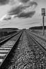 Voie ferrée (Laëtitia Galita) Tags: voie ferrée chemin fer nb lignes fuite