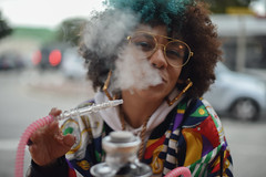 Puff Puff (Rushay) Tags: afro face fashion hair hookah mexican pipe portelizabeth sistaeyerie smoke smoker smoking southafrica style