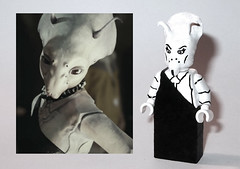 Guest #4 Unknown White Alien (OB1 KnoB) Tags: lego star wars minifigure custom white woman alien canto bight cantonica cantobight casino episode viii 8 last les derniers jedi guest