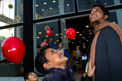 Dhaka   2018 (Sohail Bin Mohammad) Tags: street streetphotography candid unposed color colorful people kids family balloons colours asia dhaka bangladesh explore explorer eos outside glass february closeup layers child smile red canon expressions 365 urbanstreetphotography urban new