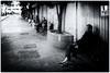 Dec 31, 2017 (pavelkhurlapov) Tags: oldman cigarette smoking bench evening tree streetphotography monochrome ring reflecting pondering people whampoa