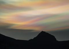 Nacreous clouds above Mt. Jökultindur (*Jonina*) Tags: iceland ísland faskrudsfjordur fáskrúðsfjörður sky himinn clouds ský nacreousclouds glitský mountains fjöll jökultindur jónínaguðrúnóskarsdóttir 25faves