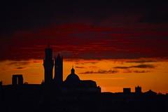 Good evening Siena! (Antonio Cinotti ) Tags: nuvole clouds toscana tuscany italy italia siena sienna nikond7100 nikon d7100 nikon18300 tramonto sunset torredelmangia duomodisiena