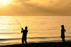 Nag, nag, nag... (Brian Howell) Tags: sunset waimea kauai beach fishing