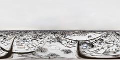 Oak Lawn, IL - 2-10-2018 after the snow (Rick Drew - 20 million views!) Tags: dji drone phantom4pro p4p oaklawn il illinois centennial park facelift construction cook county trees forest grove playground grass field ballpark fence heavy equipment progress equirectangular ptgui