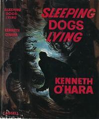 Sleeping Dogs Lying (54mge) Tags: book dustjacket crime novel
