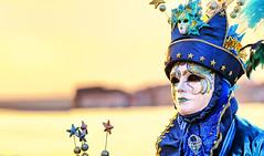 The Captain of her heart (Gio_guarda_le_stelle) Tags: venezia venice sunset carnival carnevale tramonto eyes occhi sguardo donnavelata maschera canalgrande sangiorgio italy dream