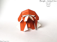 Beagle - Jacky Chan. (Magic Fingaz) Tags: anjing barthdunkan chien chó dog hond hund köpek origami perro pies пас пес собака หมา 개 犬 狗
