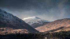 Sweet Isolation (Sarah_Brooks) Tags: house isolation isolate mountains hills shadow snowcapped highland scotland landscape ardgour fortwilliam folds