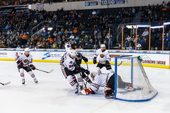 "Kansas City Mavericks vs. Indy Fuel, February 16, 2018, Silverstein Eye Centers Arena, Independence, Missouri.  Photo: © John Howe / Howe Creative Photography, all rights reserved 2018. • <a style=""font-size:0.8em;"" href=""http://www.flickr.com/photos/134016632@N02/40387396631/"" target=""_blank"">View on Flickr</a>"