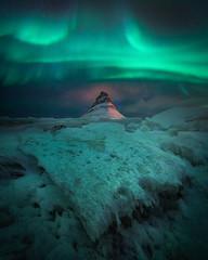 Open The Gates To Space (albert dros) Tags: kirkjufell iceland travel ice aurora northernlights mountain albertdros
