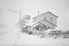 Lee Vining, California (austin granger) Tags: leevining gatewaymotel snow snowstorm winter street sidewalk monolake film 35mm