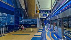 Dubai, United Arab Emirates: Burjuman metro station (Red, Green Lines) (nabobswims) Tags: ae burjuman hdr highdynamicrange ilce6000 lightroom metro nabob nabobswims photomatix rapidtransit sel18105g sonya6000 station subway ubahn uae unitedarabemirates dubai