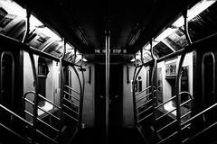 The Next Stop Is... (M. Nasr88) Tags: newyork nyc ny usa unitedstates us america train subway ride blackandwhite mono bw nikon nikond5300 nikondigital nikonphotography autofocus streetphotography street raw monochrome
