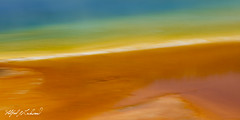 Grand Prismatic_27A0661 (Alfred J. Lockwood Photography) Tags: alfredjlockwood abstract geothermalrunoff geothermalpool color patterns shapes texture grandprismatic midwaygeyserbasin yellowstonenationalpark summer morning wyoming blur
