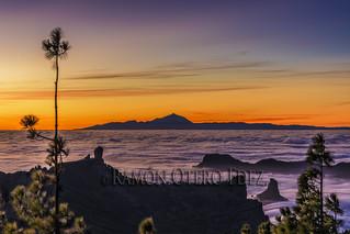 El Teide 3.718m. desde la Isla de Gran Canaria - ROF7143-20180113