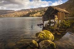 Llyn Gwynant Boat House-2 (marc_leach) Tags: llyngwynant snowdonia northwales lake boathouse rocks winter landscape canon tokina1116mm