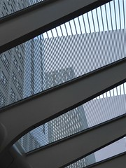 """Chicago, New Washington Avenue """"El"""" Station, Abstract (Mary Warren 10.1+ Million Views) Tags: chicago urban city architecture building transit station metal abstract lines diagonals"""