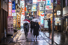 not over (matteroffactSH) Tags: korea south southkorea seoul rain rainy storm winter gangnam district downtown cityscape streets night light neon megacity reflections korean sk asia nikon d800 d800e andrew rochfort andrewrochfort matteroffact urban dense future bladerunner blade runner futuristic