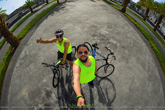 You Can't Be Sad While Riding a Bicycle (dr.7sn Photography) Tags: hydra hydro hydroblue hassan happy hailhydra hdr trek trekverve verve trekverve3 blueandblack blue smile summer saudi saudiarabia street sea brother limegreen
