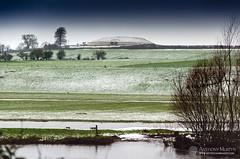 Newgrange in the snow (mythicalireland) Tags: newgrange snow snowfall snowy winter wintry weather river fields sky monument meath boyne valley