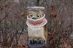 Baby...it's cold outside (Sockenhummel) Tags: handarbeitensabine volksparkwilmersdorf eule spielplatz cowl schal winter kalt owl playground fuji x30 sarf loop stricken bettina knitting