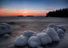 Iced Stones (Topolino70) Tags: canon600d ice snow winter stone sea sunset island tree lauttasaari helsinki finland