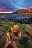 Ireland - Giant's Causeway (030mm-photography) Tags: rot irland ireland landscape landschaft seascape küstenlandschaft county natur nature küste coast wild atlantic atlantik travel reise europe europa klippe cliffs giantscauseway basalt sunset