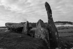 Cairnholy 2, Dumfries (Richard Needham) Tags: neolithic blackandwhite tomb dumfriesandgalloway scotland landscape burial chamber