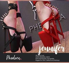 "Phedora. for Kinky Monthly event- ""Jennifer"" heels (Celena Galli ~ phedora.) Tags: sl secondlife second life phedora mesh shoes heels pumps woman kinky classy sassy chic cute kinkyevent fashion event 3d maitreya lara slink sexy physique hourglass hot belleza venus isis freya shopping addict shappaholic style"