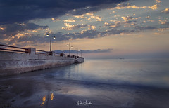 Souq Waqif Rains Coming (Nabeel Iqbal) Tags: souq waqif al wakra wakrah qatar doha beach sea ocean lights clouds rain coming weather sunrise colors architecture photography seascape camera canon 6d 1740mm middle east landmark