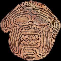 Mask path12 002 (scottschoolportland) Tags: mesopotamia humbaba demon mask divination intestines sippar iraq mythology maze waradmarduk ancient