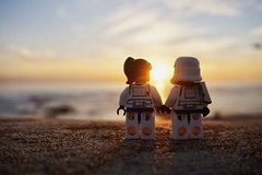 Don't close the blast doors to your heart! (Andre Filipe Gaspar) Tags: stormtrooper bennythetrooper sunset minifigures minifig romance love wars star lego