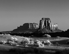 02469376275-97-Early Morning in Monunment Valley-3-Black and White (Jim There's things half in shadow and in light) Tags: arazona canon5dmarkiv monumentvalley navajo utah earth landscape morning sky statepark landsape blackandwhite desert southwest america unitedstates sigma24105mmf4dg