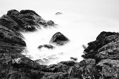 Devolve (John Westrock) Tags: blackandwhite longexposure shore rocks deceptionpass washingtonstate pacificnorthwest contrast canoneos5dmarkiii canonef2470mmf28lusm bwnd1000x