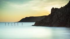 Sandyhills (TrotterFechan) Tags: sandyhills seascape landscape sea cliffs nets sunset