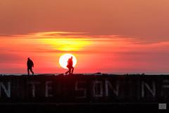 502201801cVIAREGGIO-81 (GIALLO1963) Tags: viareggio toscana italia it sunset italy tuscany silhouette people seaside