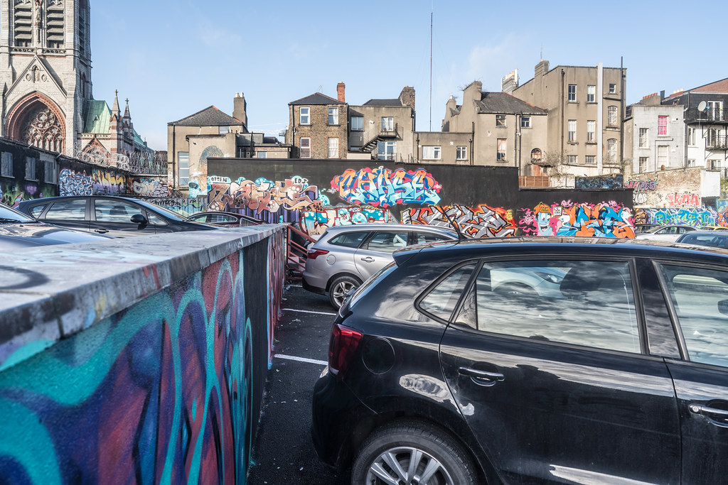 STREET ART AT THE TIVOLI CAR PARK IN DUBLIN [LAST CHANCE BEFORE THE SITE IS REDEVELOPED]-135657