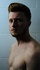 In The Shadows - HouseOfElliot © (HouseOfElliot) Tags: houseofelliot house elliot hausvonelliot hausvonelliøt tomkins luton uk bedfordshire matt guess matthew bathroom tiles ginger guy redhead male topless lut adobe photoshop lightroom jail bird in the shadows give us your best side stare for days beard pecks body hair nipples nude shoulders sony alpha a7 mk2 profile chest
