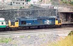 37415 Kyle of Lochalsh 11.07.89 (Paul David Smith (Widnes Road)) Tags: 37415 kyle lochalsh 110789 kyleoflochalsh 101 observation car