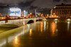 The swollen river (Francisco Anzola) Tags: ngc paris france night lights seine river sena water reflection bridge