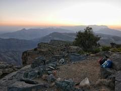 Camp spot on the ascent up Jebel Shams.