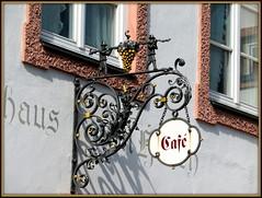 Coffee shop, Bad Tölz, Bayern (explored 06/02/2018) (magister111) Tags: bavaria bayern signs wroughtiron