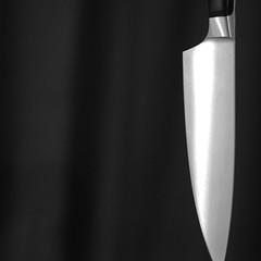Knifeplay (andymudrak) Tags: 365 photography knife knifeplay blade metal bw squareformat sharp