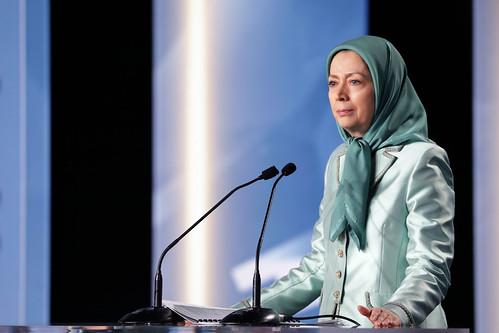 کنفرانس (قیام ایران و نقش زنان) بمناسبت روز جهانی زن، با حضور مریم رجوی