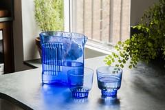 RidgeKitchen-set-cobalt-lifestyle-03 (Charles & Marie) Tags: glasses areaware glassware ridgekitchen carafe visibility pitcher
