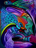 Peacock Paradise (MattCrux) Tags: psychedelic lsdtrip acid abstract trippy colorful rainbow lsd strange weird drug drugs weed high trip love acrylic painting acrylicpainting traditional canvas paint painted artist drawing illustration art arts expressive different beautiful artsy creativity creative